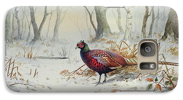 Pheasants In Snow Galaxy S7 Case