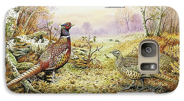 Pheasants In Woodland Galaxy Case by Carl Donner
