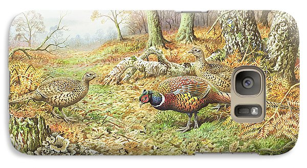 Pheasants With Blue Tits Galaxy S7 Case by Carl Donner