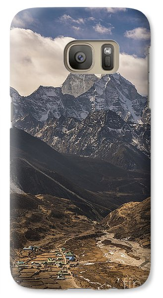 Galaxy Case featuring the photograph Pheriche In The Valley by Mike Reid