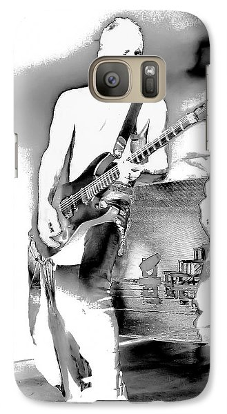 Phil Collen Of Def Leppard Galaxy Case by David Patterson