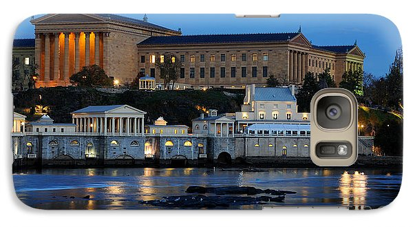 Philadelphia Art Museum And Fairmount Water Works Galaxy S7 Case by Gary Whitton