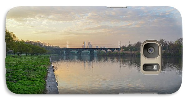 Galaxy Case featuring the photograph Philadelphia Cityscape From The Schuylkill In The Morning by Bill Cannon