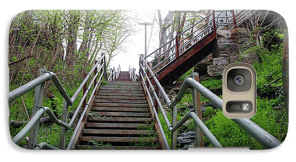 Galaxy Case featuring the photograph Philadelphia - Roxborough Avenue Steps by Bill Cannon