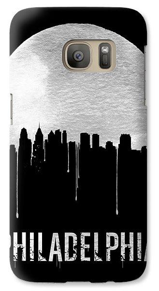 Philadelphia Skyline Black Galaxy S7 Case