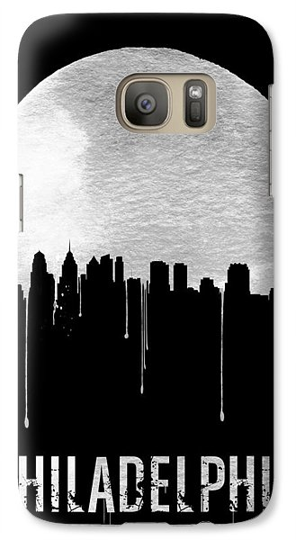 Philadelphia Skyline Black Galaxy S7 Case by Naxart Studio