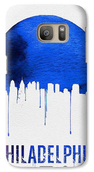 Philadelphia Skyline Blue Galaxy S7 Case by Naxart Studio