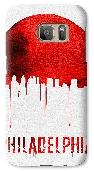 Philadelphia Skyline Redskyline Red Galaxy S7 Case