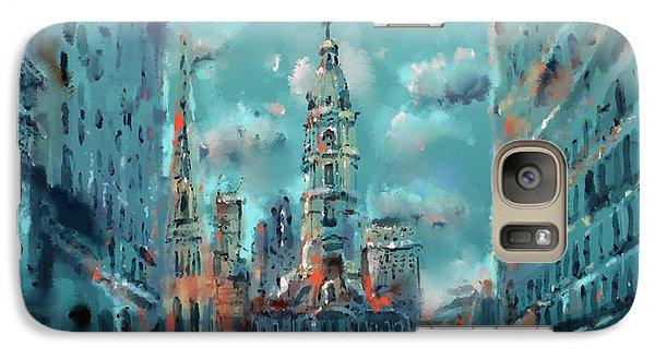 Philadelphia Skyline Galaxy S7 Case - Philadelphia Street by Bekim Art