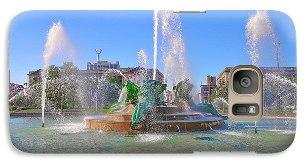 Galaxy Case featuring the photograph Philadelphia - Swann Fountain At Logan Square by Bill Cannon