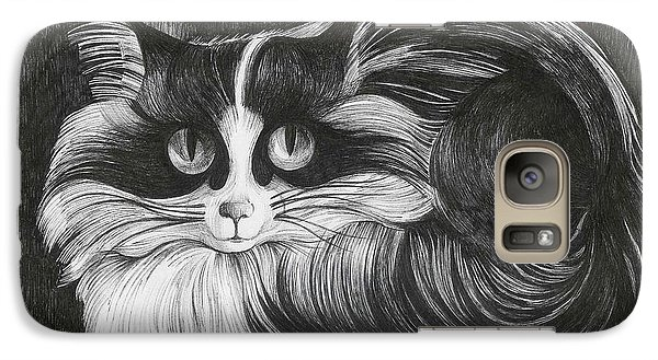 Galaxy Case featuring the drawing Philip by Anna  Duyunova