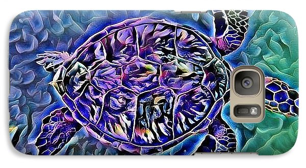 Galaxy Case featuring the digital art Phillis The Turtle by Erika Swartzkopf