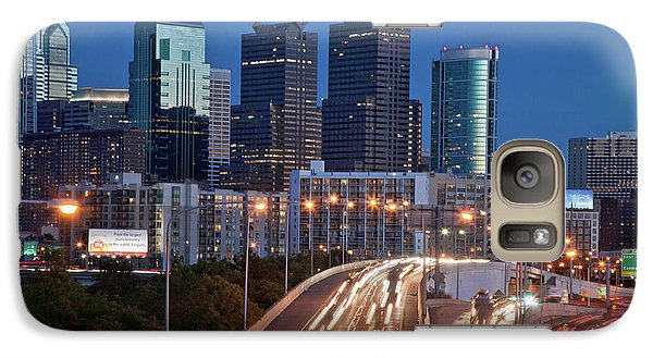 Galaxy Case featuring the photograph Philly Skyline With Highways by Matthew Bamberg
