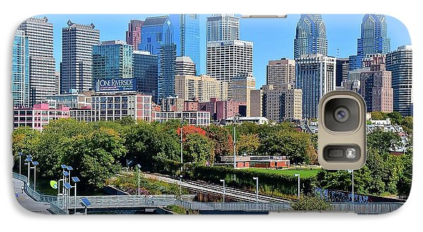 Galaxy Case featuring the photograph Philly With Walking Trail by Frozen in Time Fine Art Photography