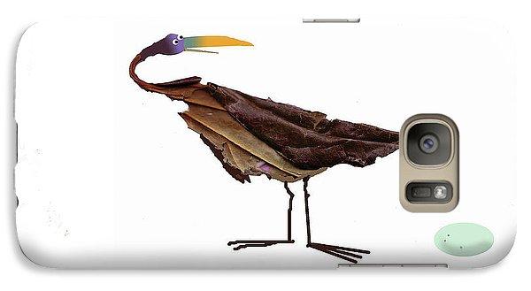 Galaxy Case featuring the digital art Philosophical Bird by Graham Harrop