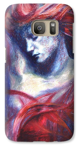 Galaxy Case featuring the painting Phoenix Fire by Ragen Mendenhall