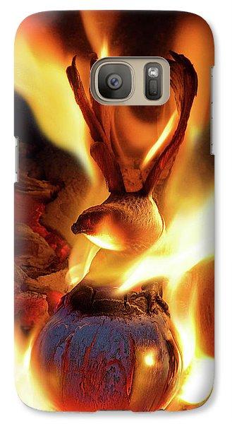 Phoenix Galaxy S7 Case by Jerry LoFaro