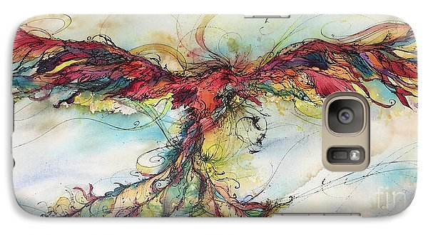 Galaxy Case featuring the painting Phoenix Rainbow by Christy Freeman