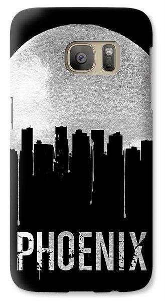 Phoenix Skyline Black Galaxy S7 Case by Naxart Studio