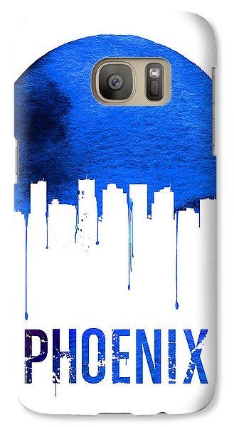 Phoenix Skyline Blue Galaxy S7 Case by Naxart Studio