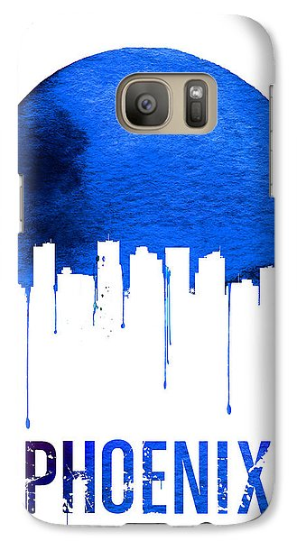 Phoenix Skyline Blue Galaxy Case by Naxart Studio