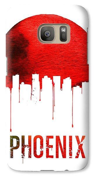 Phoenix Skyline Red Galaxy S7 Case by Naxart Studio
