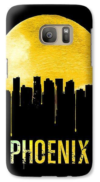 Phoenix Skyline Yellow Galaxy S7 Case by Naxart Studio