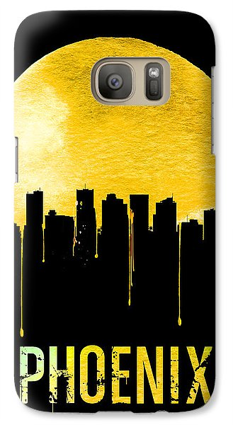 Phoenix Skyline Yellow Galaxy Case by Naxart Studio