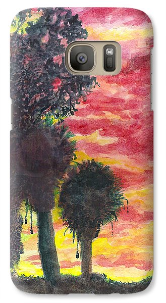 Galaxy Case featuring the painting Phoenix Sunset by Eric Samuelson