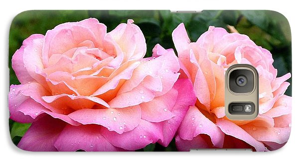 Galaxy Case featuring the photograph Photogenic Peace Roses by Will Borden