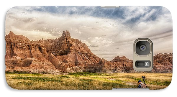 Photographer Waiting For The Badlands Light Galaxy S7 Case