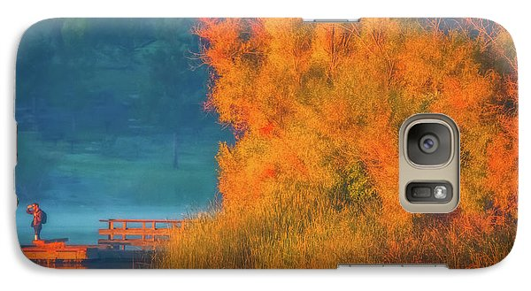 Galaxy Case featuring the photograph Photographing The Sunrise by Marc Crumpler