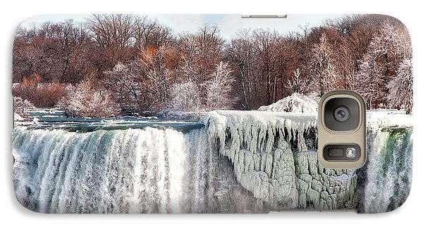 Galaxy Case featuring the photograph Niagara Winter by Gouzel -