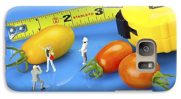 Galaxy Case featuring the photograph Photography Of Tomatoes Little People On Food by Paul Ge
