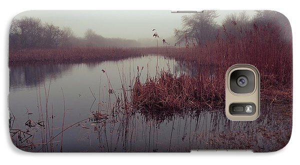Galaxy Case featuring the photograph Phragmites And Fog by Andrew Pacheco