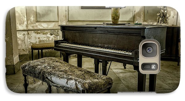 Galaxy Case featuring the photograph Piano At Josie's House by Joan Carroll