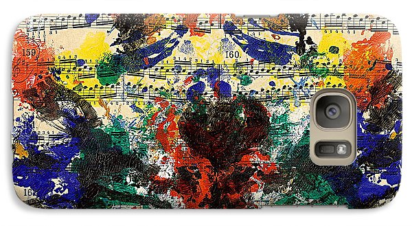 Galaxy Case featuring the painting Piano Exercises 1 by Jan Daniels