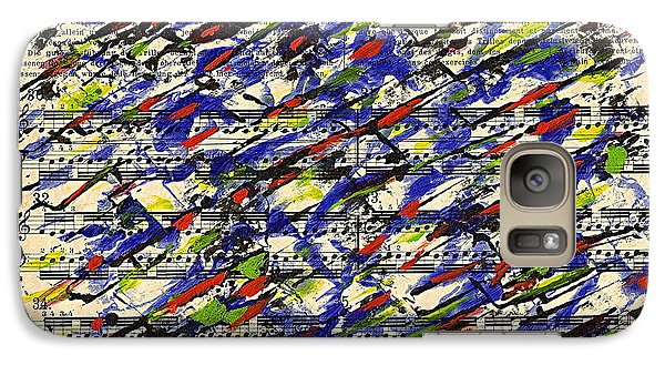 Galaxy Case featuring the painting Piano Exercises 2 by Jan Daniels