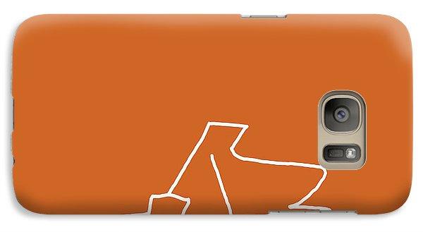 Galaxy Case featuring the digital art Piano In Orange by Jazz DaBri