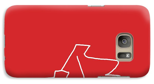Galaxy Case featuring the digital art Piano In Red by Jazz DaBri