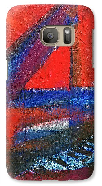 Galaxy Case featuring the painting Piano In The Red Room by Walter Fahmy