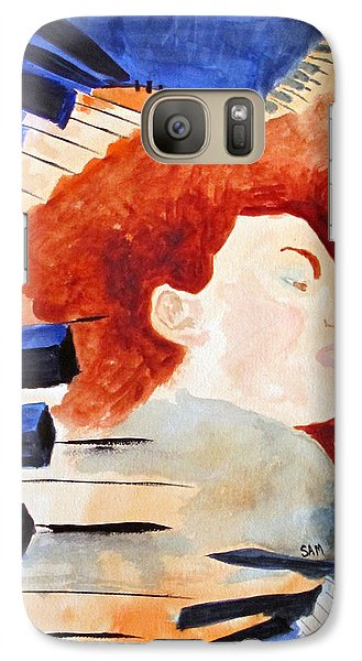 Galaxy Case featuring the painting Piano by Sandy McIntire