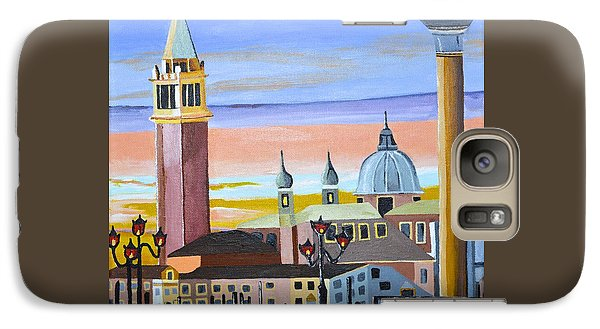 Galaxy Case featuring the painting Piazza San Marco by Donna Blossom