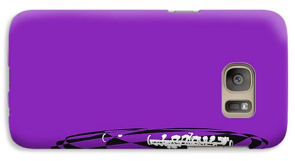 Galaxy Case featuring the digital art Piccolo In Purple by Jazz DaBri