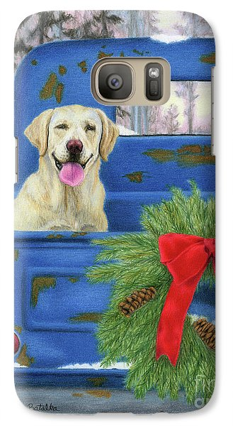 Truck Galaxy S7 Case - Pick-en Up The Christmas Tree by Sarah Batalka