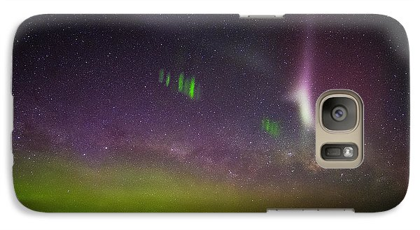 Galaxy Case featuring the photograph Picket Fences And Proton Arc, Aurora Australis by Odille Esmonde-Morgan
