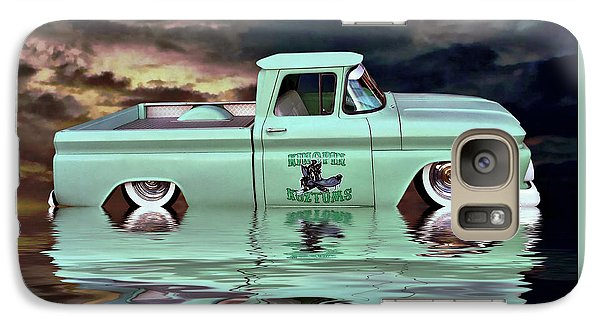 Galaxy Case featuring the photograph Pickup Reflections by Steven Agius