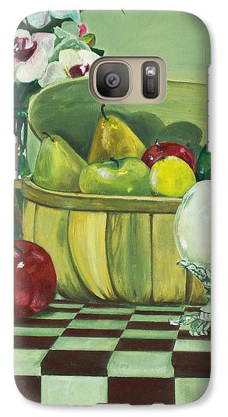 Galaxy Case featuring the painting Picnic by Jane Autry