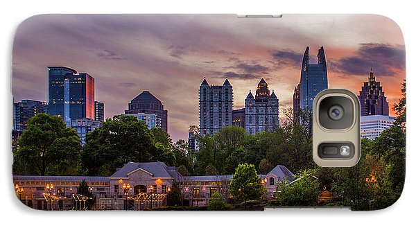 Galaxy Case featuring the photograph Piedmont Park Midtown Atlanta Sunset Art by Reid Callaway