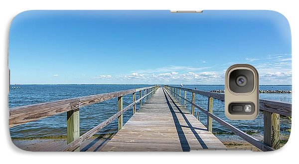 Galaxy Case featuring the photograph Pier At Highland Beach by Charles Kraus